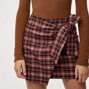 Aritzia Wilfred Dorine Wool & Cashmere Wrap Skirt